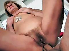 Hot granny gets her tight asshole fucked pretty ha