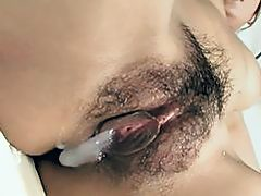 Asian honey thrills with wet fellatio in wild bang