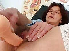 Redhead Grandma&039s Hairy Pussy Cl